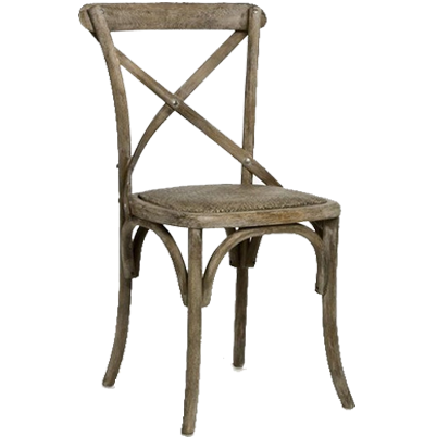 Zentique Parisienne Cafe Chair in Limed Grey Oak