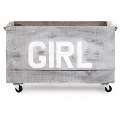 "Zentique Small Cart ""Girl"""
