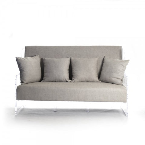 Zentique Acrylic Sofa Neutral