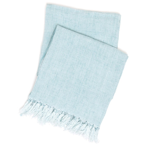 Pine Cone Hill Laundered Linen Sky Throw