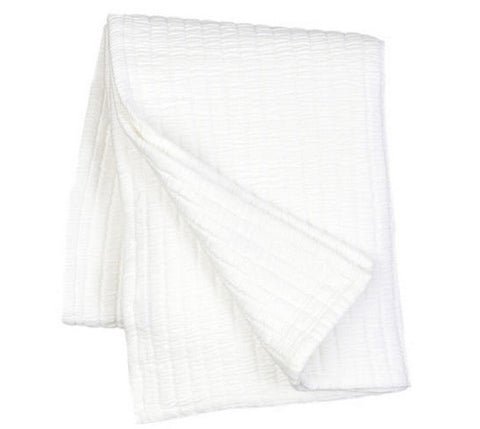 Pine Cone Hill Boyfriend White Throw