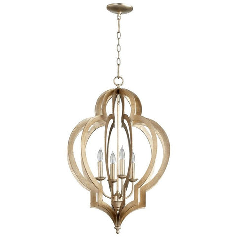 Cyan Design Vertigo Small Chandelier in Silver Leaf
