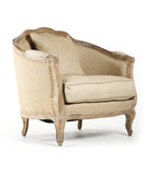 Zentique Maison Love Chair in Natural Linen