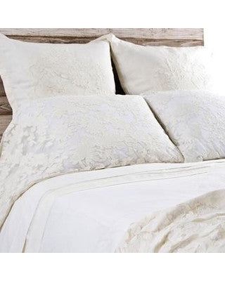 Pom Pom Caprice King Pillowcase in Pearl