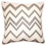 Square Feathers Chouchou Zig Zag Pillow