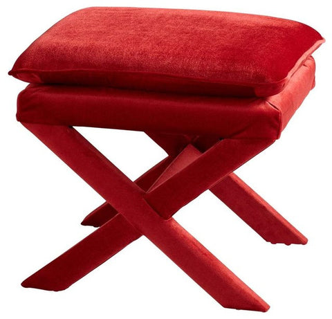 Cyan Otto Stool in Red