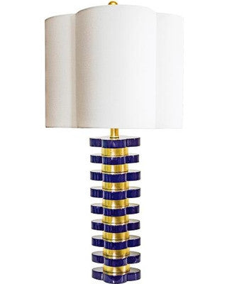 Couture Lamps Quatrefoil Lamp in Indigo