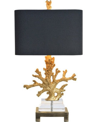Couture Gold Coral Table Lamp