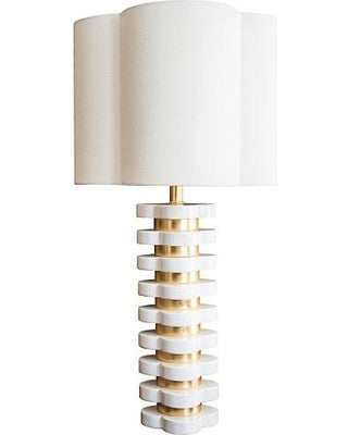 Couture Lamps Quatrefoil Lamp in White
