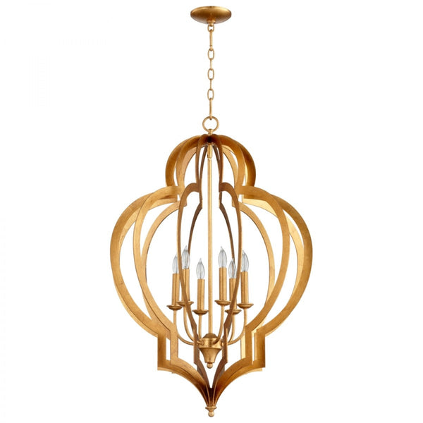Cyan Design Large Vertigo Chandelier in Gold Leaf