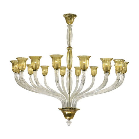 Cyan Design Vetrai 16 Light Chandelier in Clear