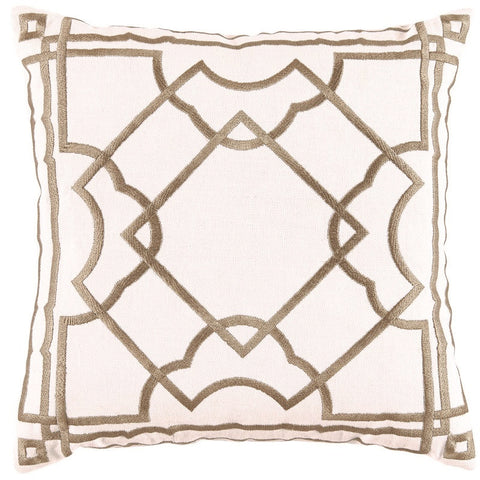 Lacefield Gatsby Bisque Embroidery Pillow