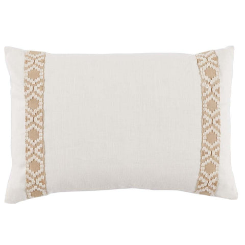 Lacefield Eggshell White Linen Lumbar