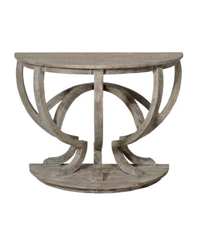 CFC Reclaimed Lumber Demi Lune Console Medium 36""