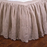Pom Pom Annabelle Bedskirt in Flax