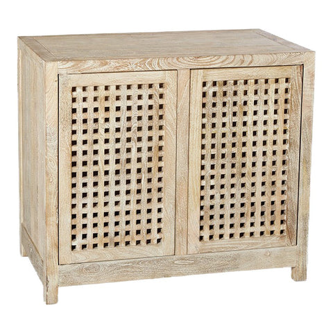 Studio A Driftwood Lattice 2-Door Cabinet