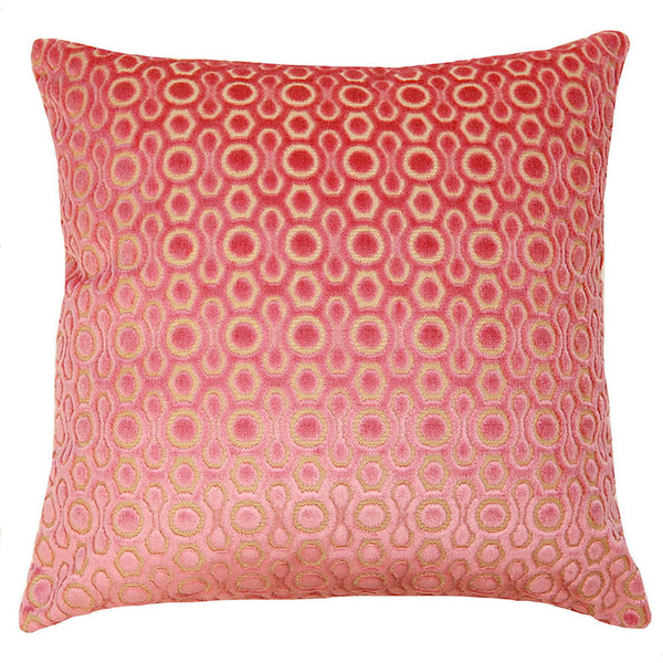 Square Feathers Dulce Pink Dots Pillow