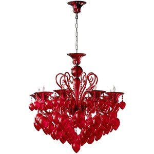 Cyan Red Chianti Chandelier