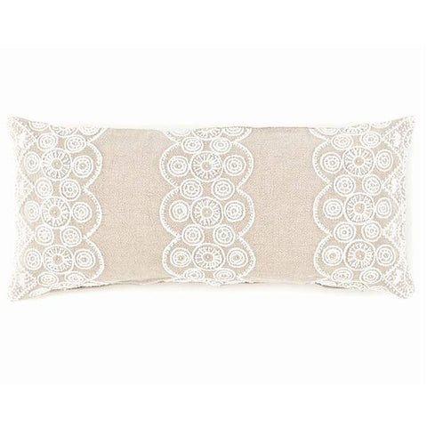 Pine Cone Hill French Knot Natural Decorative Pillow