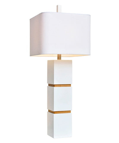 Couture Wilshire Table Lamp in White