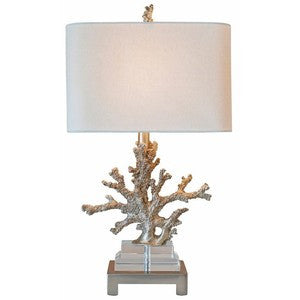 Couture Silver Coral Table Lamp