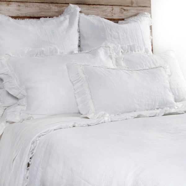Pom Pom Mathilde Duvet Cover in White