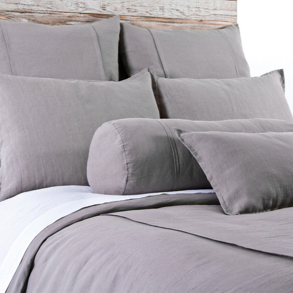 Pom Pom Louwie Duvet Cover in Grey Stone