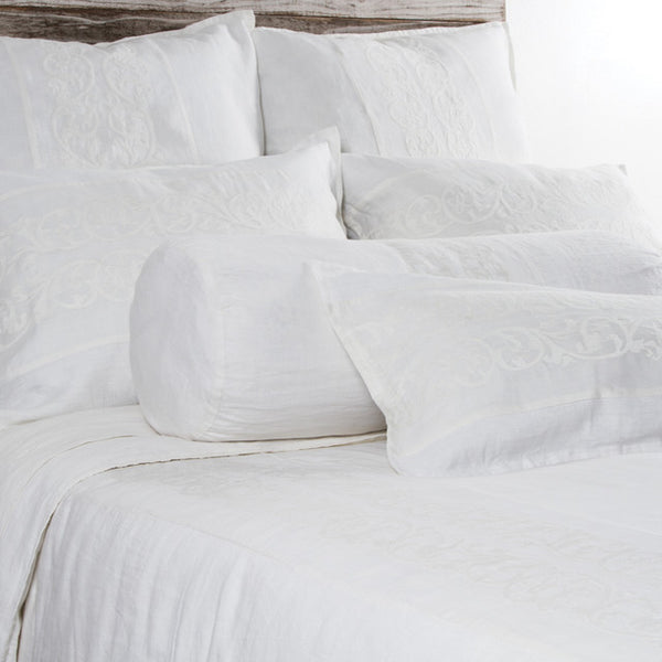 Pom Pom Allegra Duvet Cover in White