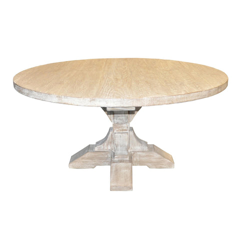 CFC Reclaimed Lumber Round Pedestal Dining Table