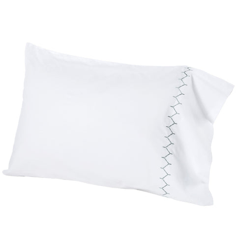 John Robshaw Stitched Pillow Cases in Gray