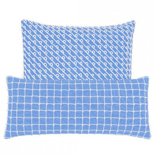 Pine Cone Hill Chadna French Blue Decorative Pillow