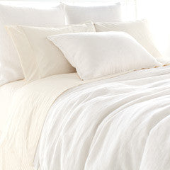 Pine Cone Hill Stone Washed Linen White Sham