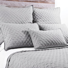 Pom Pom Hampton Coverlet in Silver