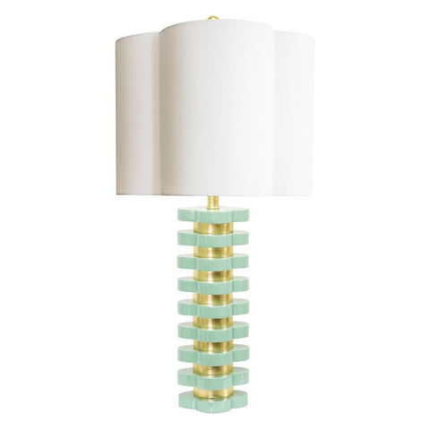 Couture Lamps Quatrefoil Lamp in Mint