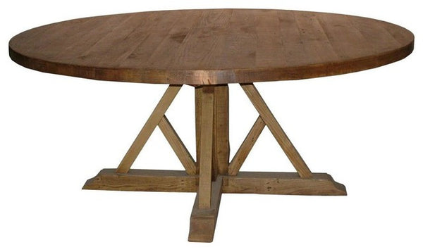 CFC Reclaimed Lumber Cross-Base Dining Table