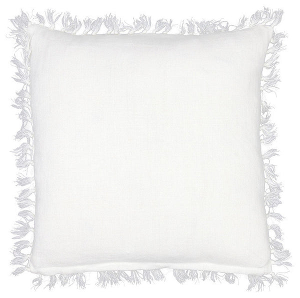 Pine Cone Hill Laundered Linen White Square Decorative Pillow
