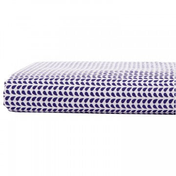 John Robshaw Chevron Light Indigo Fitted Sheet