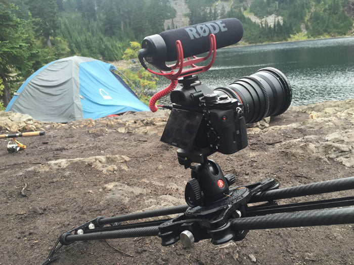 Slider with tent