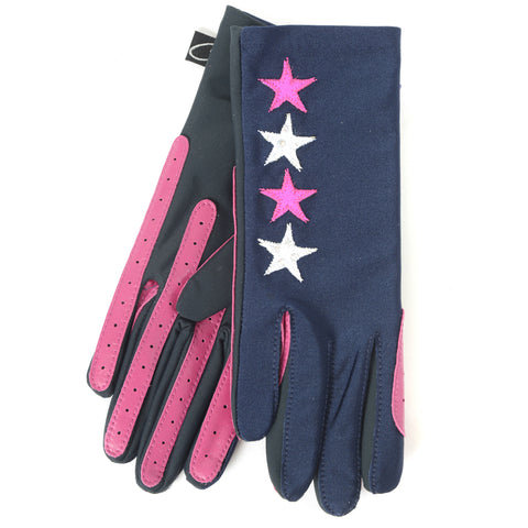 Gloves - Pink Star