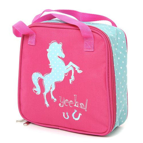 YeeHa! Equestrian Lunch Bag Pink Blue One size