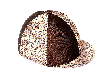 Hat Cover - Leopard Horse Riding