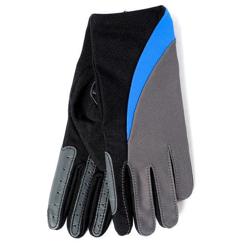 Gloves - Boys Black, Blue & Grey