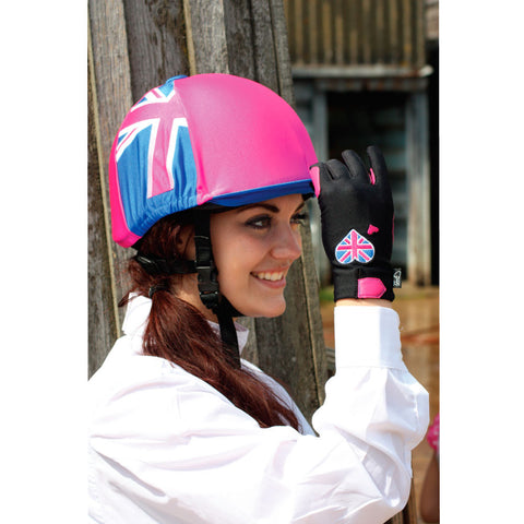 Hat Cover - Pink Union Jack