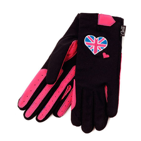 Gloves -Pink Union Jack