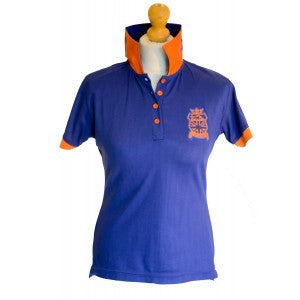 Chillout - ROYAL BLUE STATEMENT COLLAR POLO SHIRT