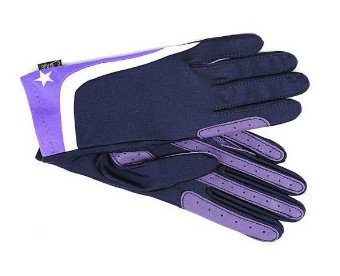 Gloves - Cross Country XC Theme Riding Gloves Purple