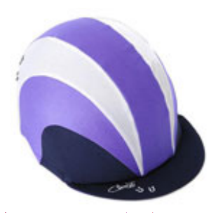 Hat Cover - Purple Sports Stripe