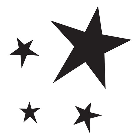 Stencils - Small Pointy Star Group - Packs of four Stencils.