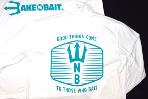 White/Turquoise - Trident - Long Sleeve - ON SALE!