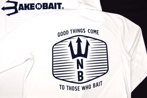 White/Navy Blue - Trident - Long Sleeve